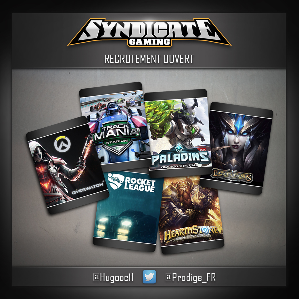 ANNONCE-RECRUTEMENT-SYNDICATE GAMING-MONTPELLIER-VIN VELKE-PUBLICITE