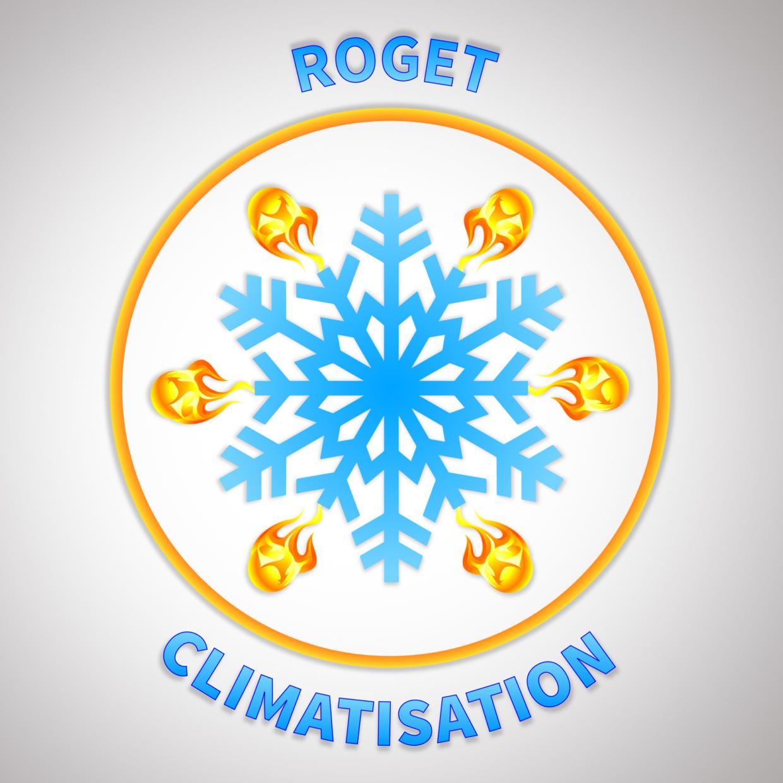 LOGO-ROGET-CLIMATISATION-GRAPHISTE-PAS-CHER-MONTPELLIER