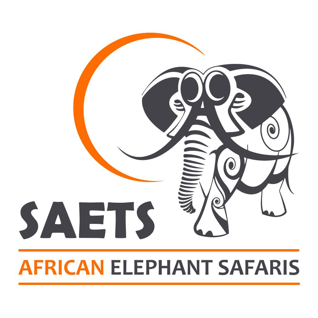 logo pour des safaris avec des elephants