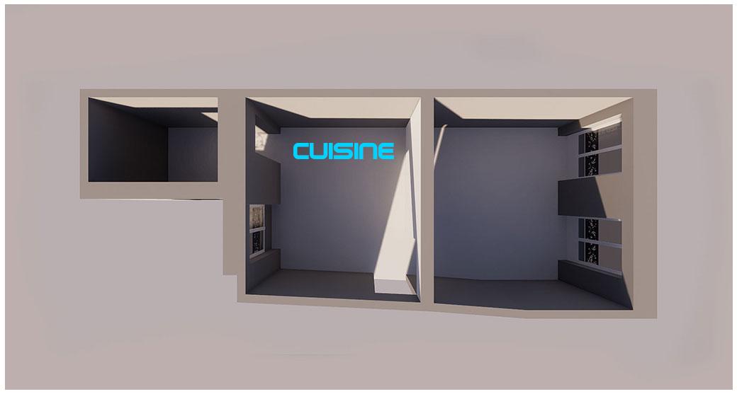 PLANS 3D POUR UNE CUISINE – PROJET DE RÉNOVATION