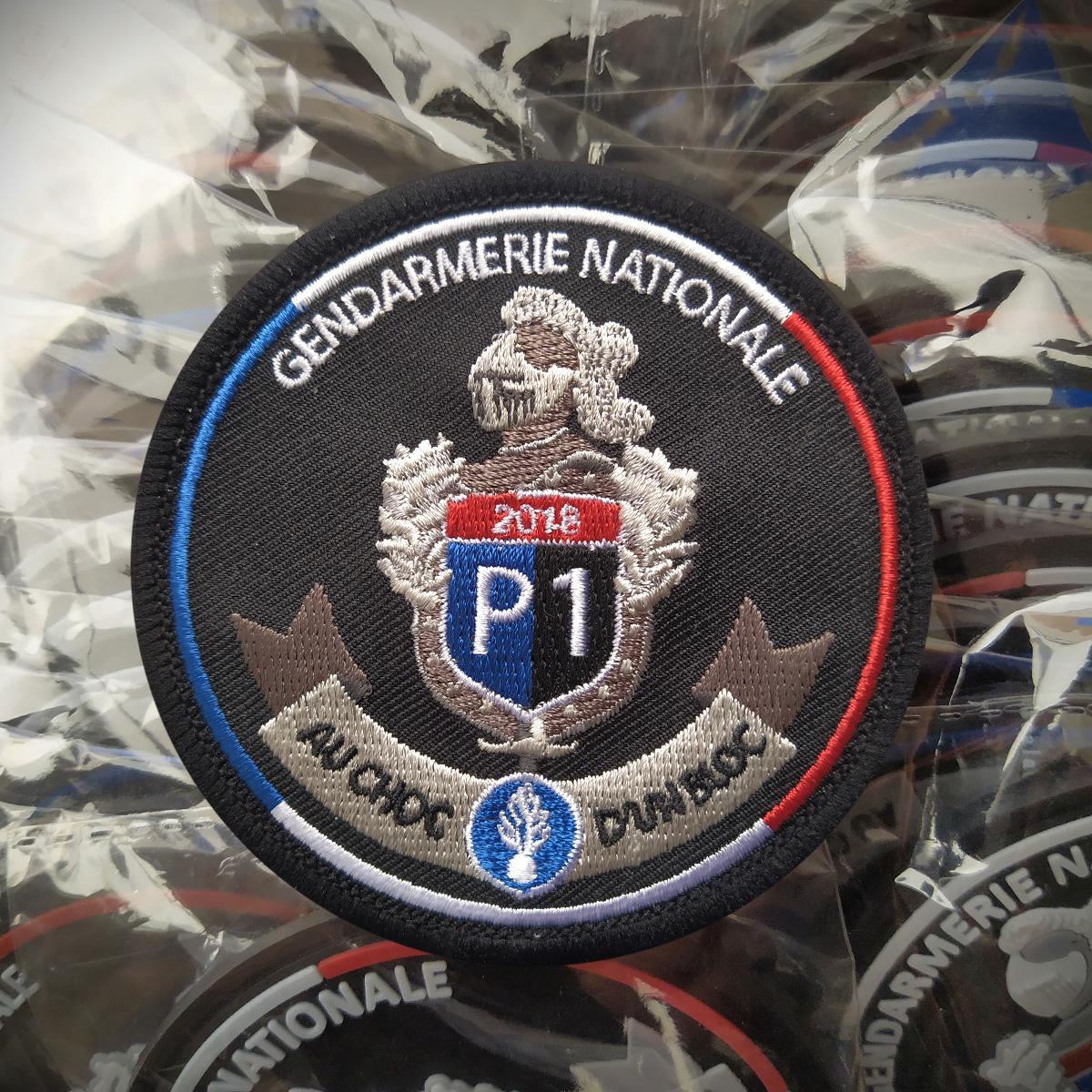 ecusson brode du logo pour des reservistes de la gendarmerie nationale