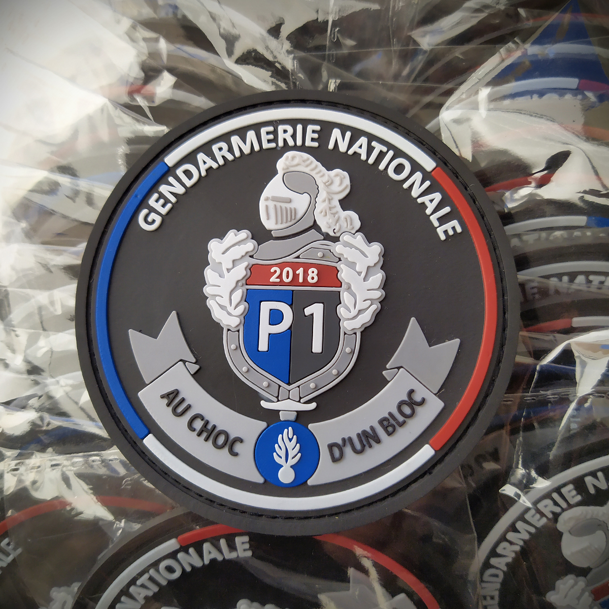 ecusson pvc du logo pour des reservistes de la gendarmerie nationale