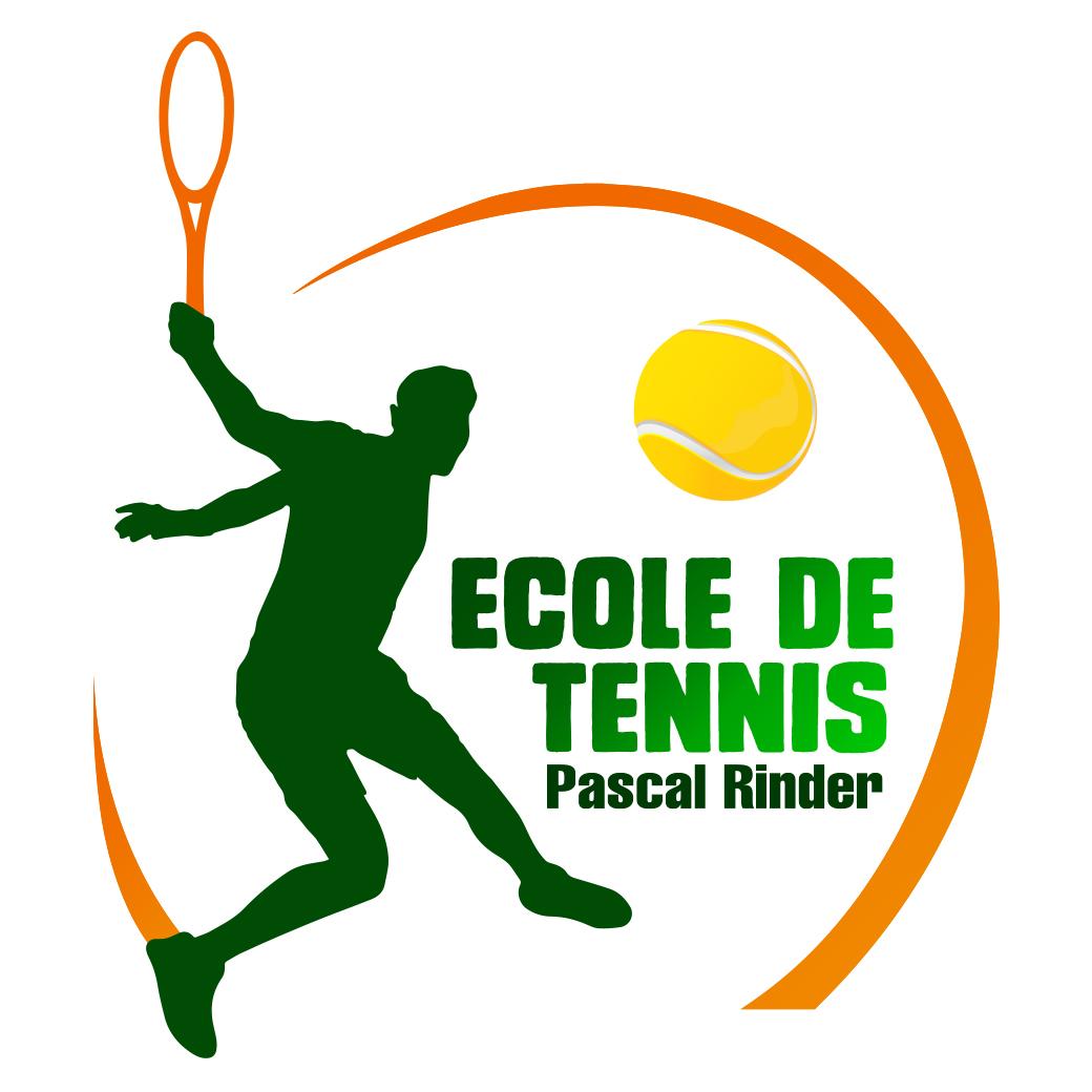 Logo pour une école de tennis sur Paris.