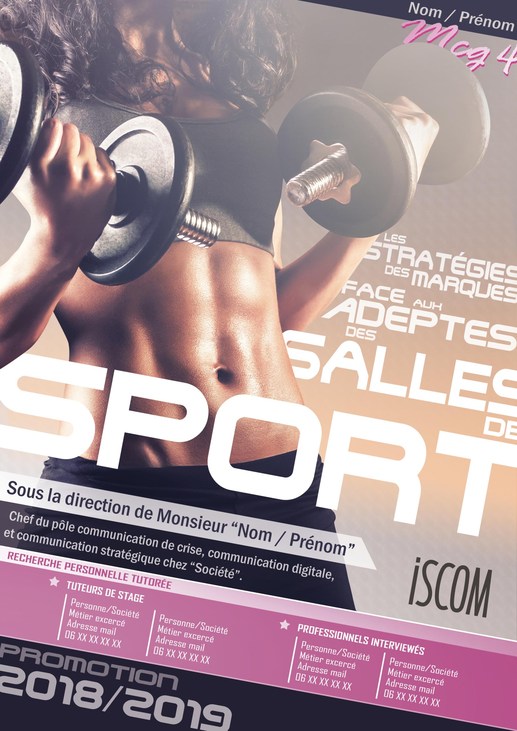 affiche pour une couverture de magazine fitness