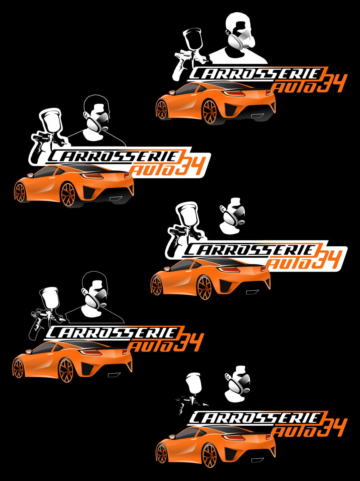 Déclinaisons du logo pour une carrosserie auto.