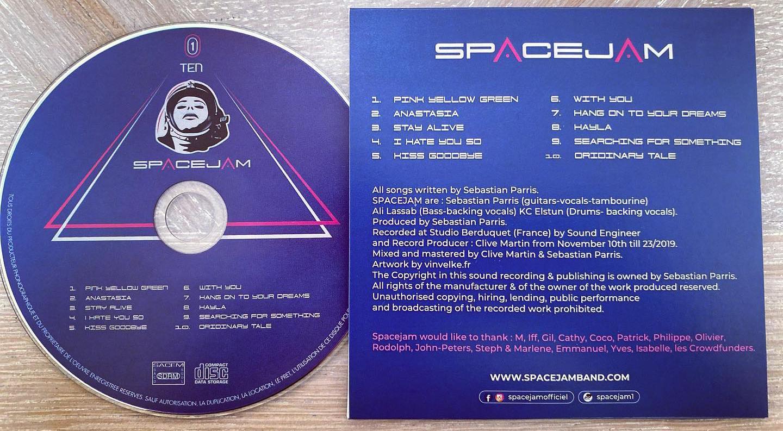 pochette cd verso du logo pour un groupe de musique
