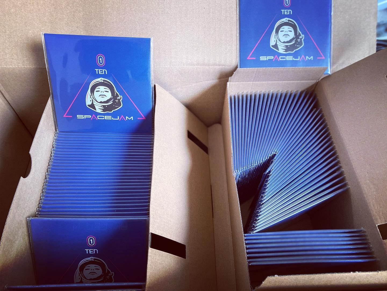 pochettes cd carton du logo pour un groupe de musique