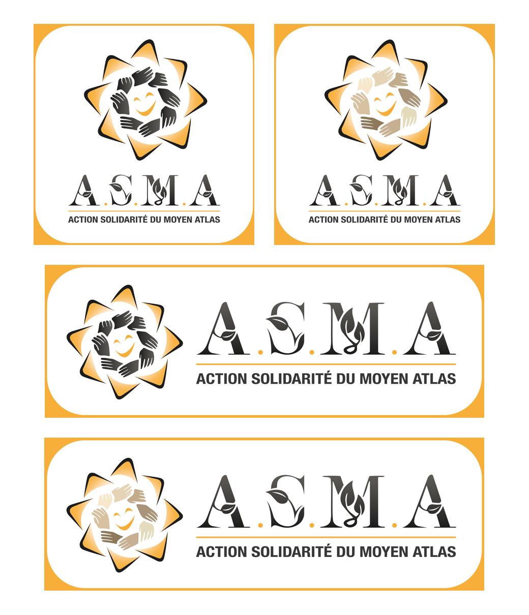 déclinaisons du logo pour une association humaintaire