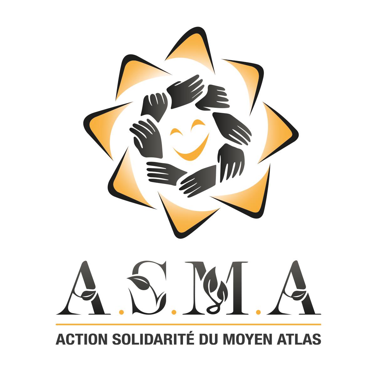 logo pour une association humanitaire marocaine avec mains noires graphiste pas cher