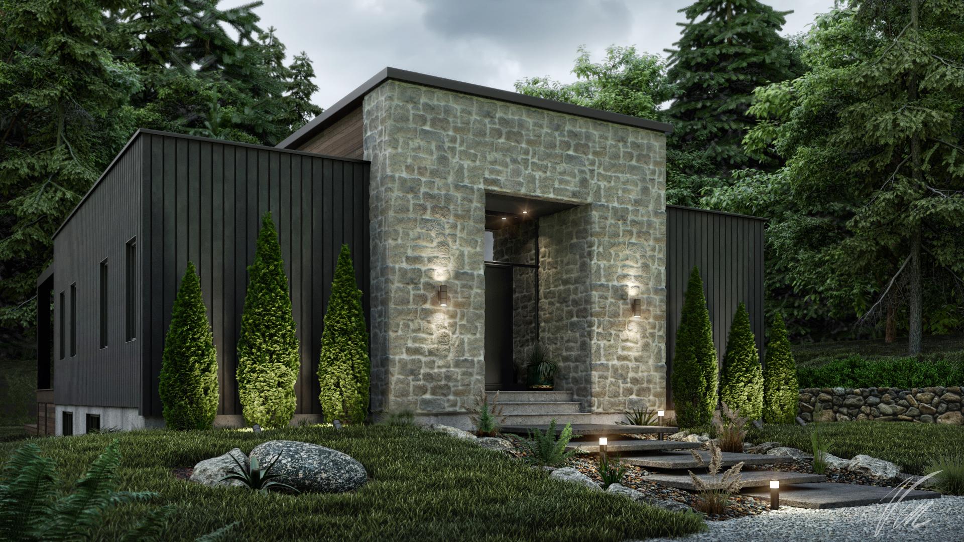 maison 3d canada exterieur photorealiste pas cher