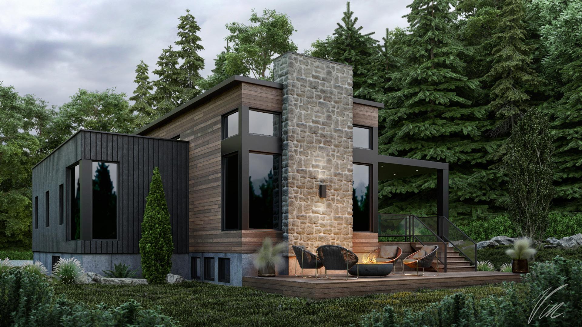 maison en 3d de luxe au canada
